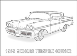 American Cars of the 1950s Coloring Book - Happy coloring ...